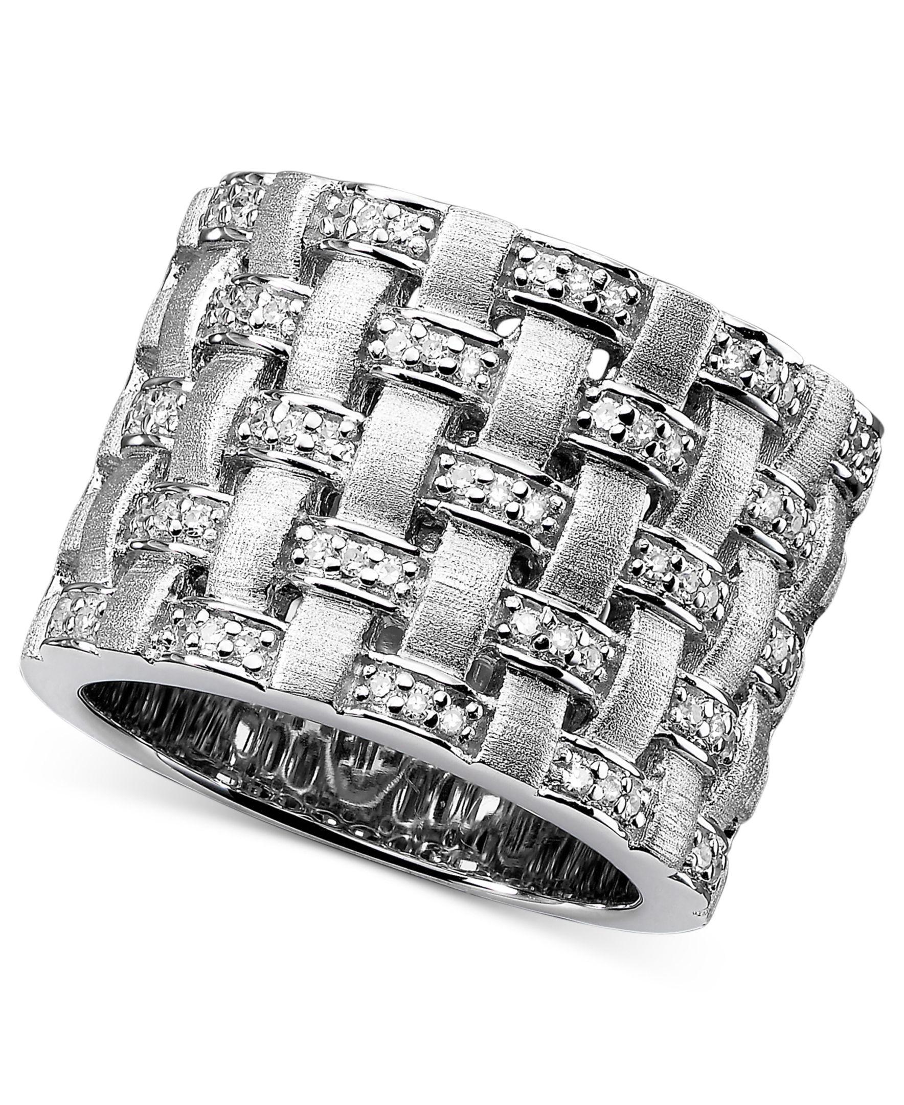 Balissima by Effy Diamond Basket Weave (1/4 ct. t.w.) in Sterling Silver