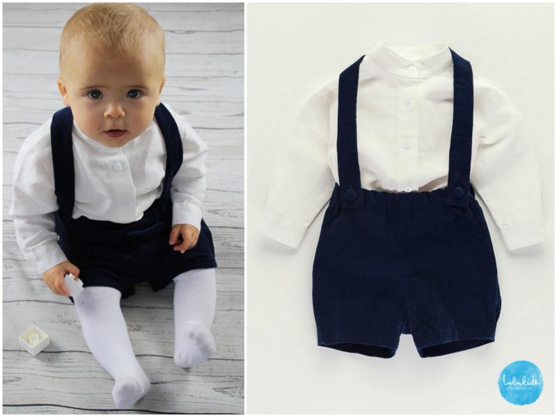 Taufbekleidung 2tlg Taufe Junge Blaue Hose Aus Cord