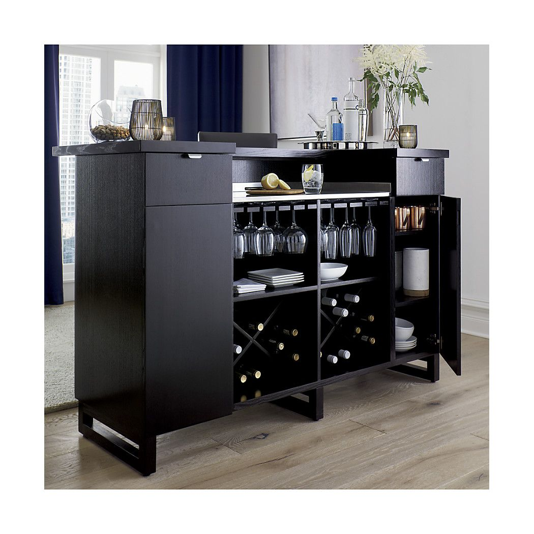 Serve Your Guests In Style With A Bar Cabinet From Crate And Barrel Carts Cabinets Free Up Valuable E Are Beautiful Addition To Any Room