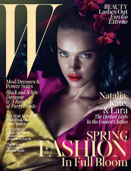 Tocados de flores en la portada de W magazine