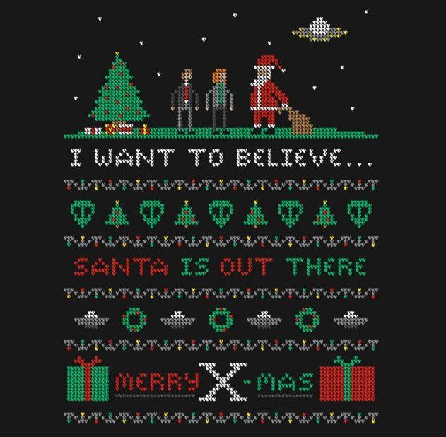 Hold My X-Files   Nerdy christmas, Teefury, Christmas sweaters