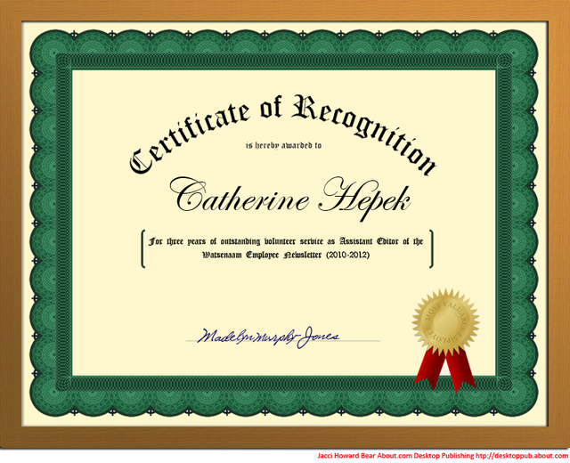 Best Volunteer Certificate Templates Download Certificate – Microsoft Word Award Template