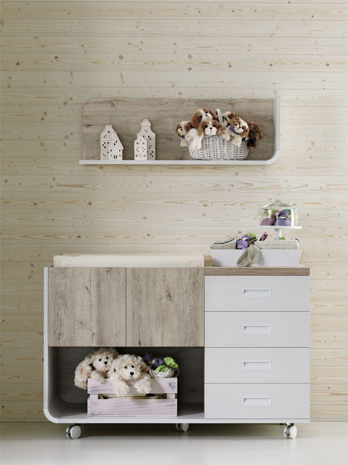 Habitaci n beb en colors neutros composici n con cuna armario sill n y c moda shop muebles - Sillones habitacion bebe ...