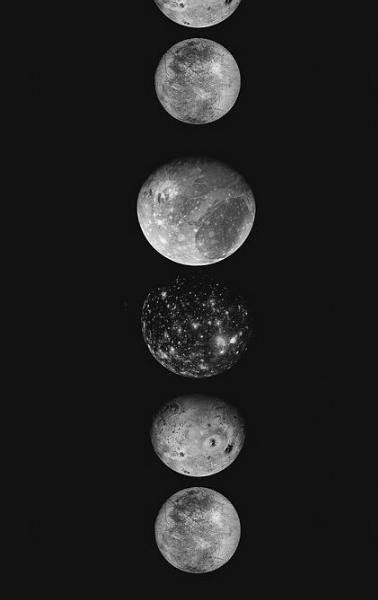 Saturn Moons Phone Wallpaper Wallpaper Moon
