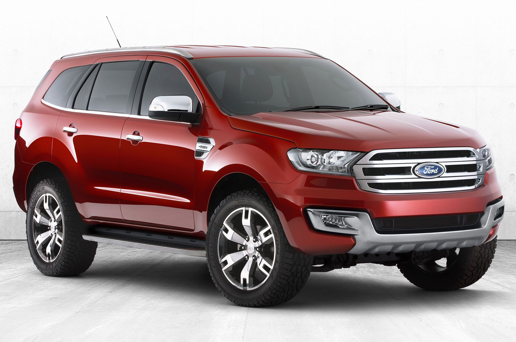 Ford Everest Concept Suv Front Side View With Images Ford