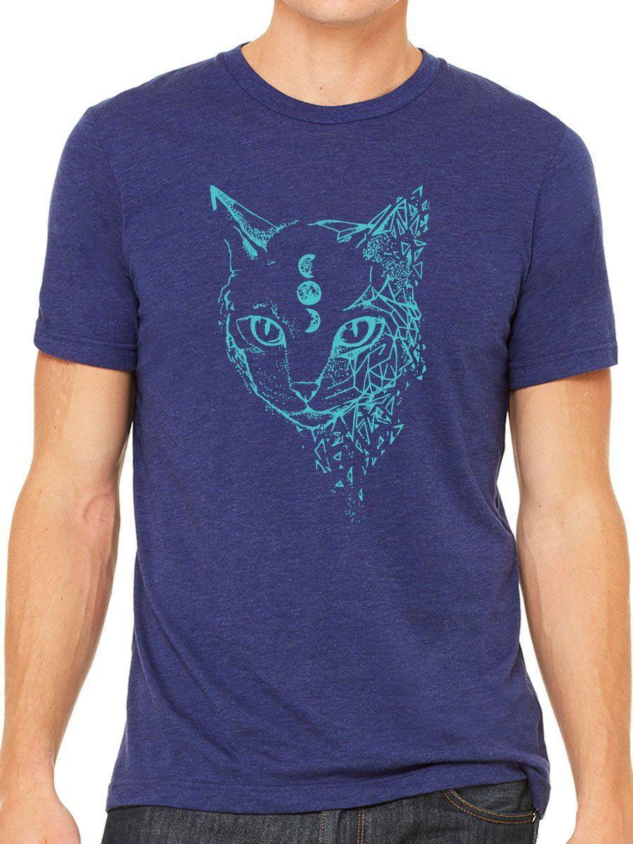 Space Cat Men's T Shirt | Veterinarian or Vet Tech Gift for Cat Lovers | Sci-Fi Astronomy Space Art Shirt