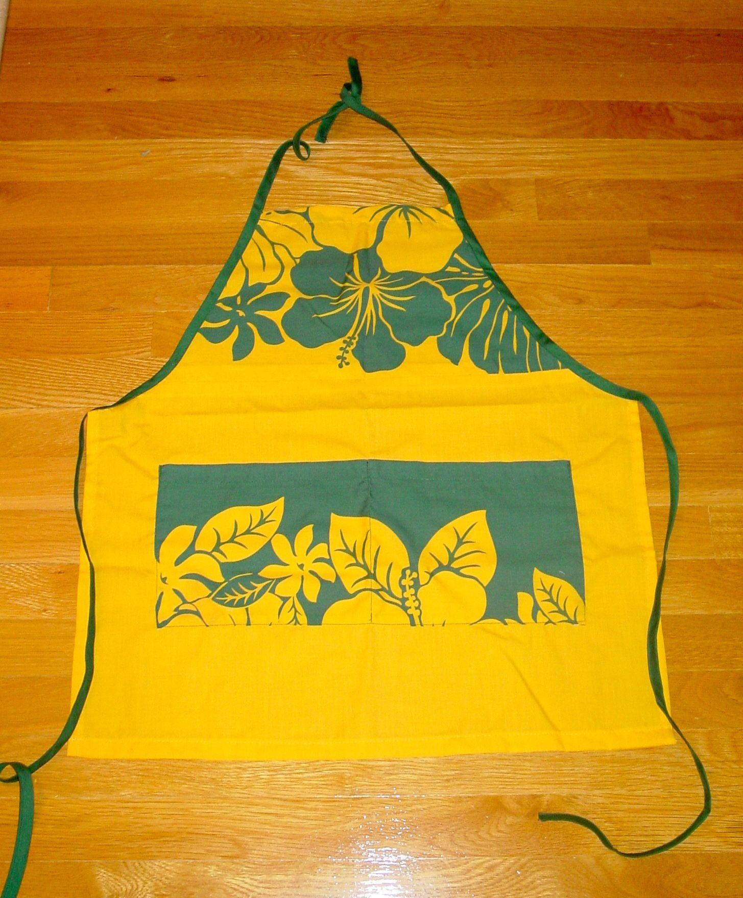 Hawaiian print apron.