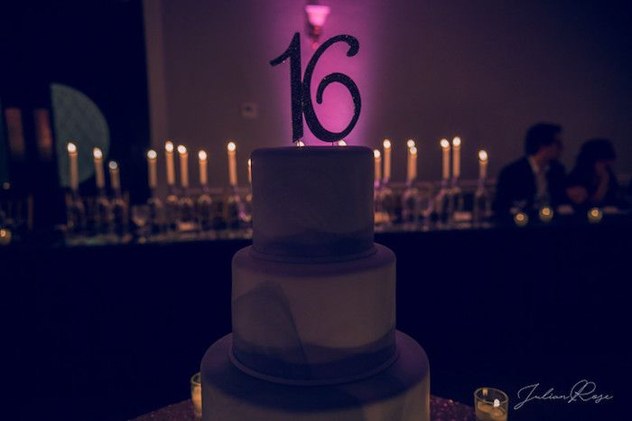 Candle Lit Cakescape From A Masquerade Birthday Party On Karas Ideas