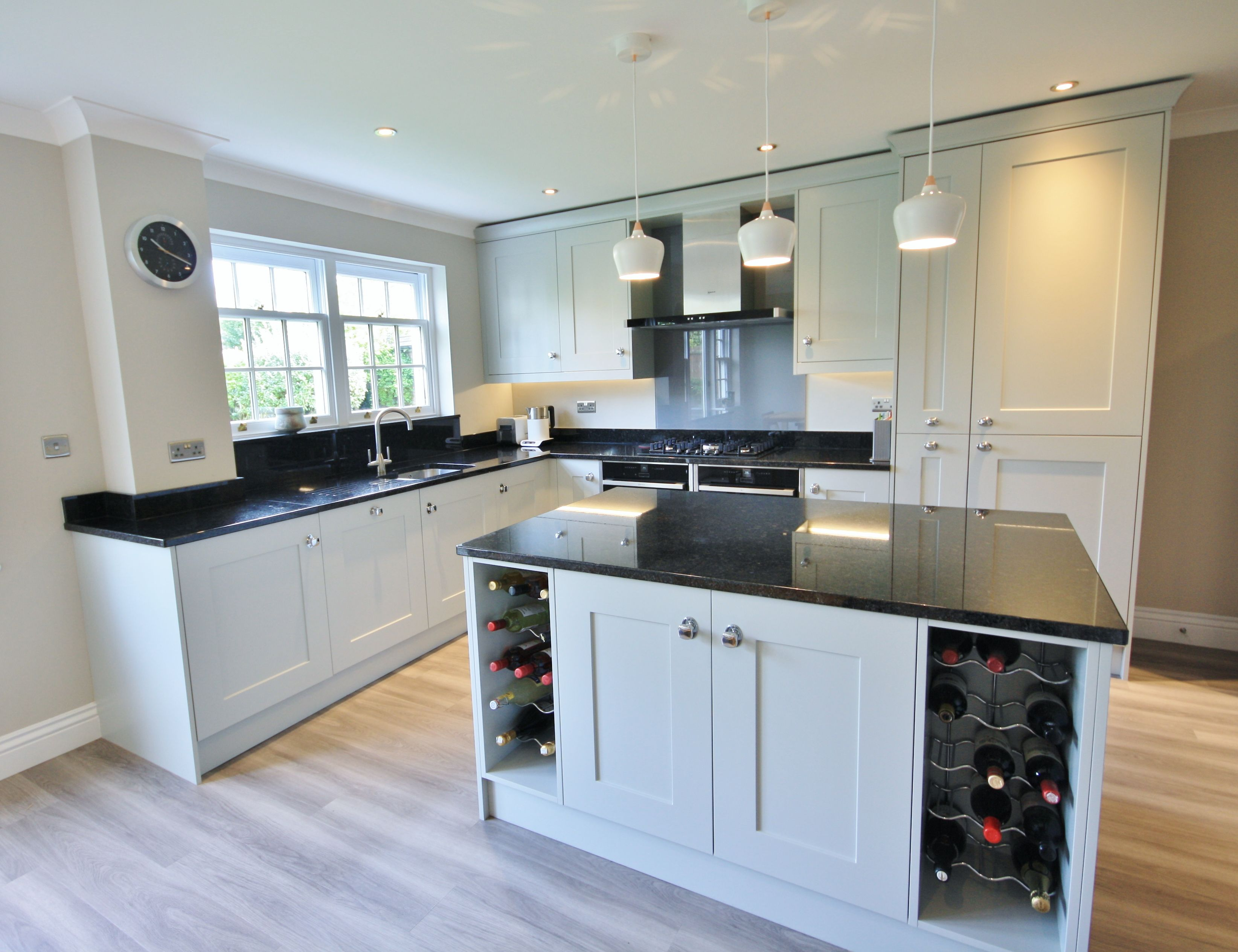 Great Kitchen Layout, There Is Even Enough Storage Room For 2 X Wine Racks.  Designed, Supplied And Installed By Kitchencraft Essex.