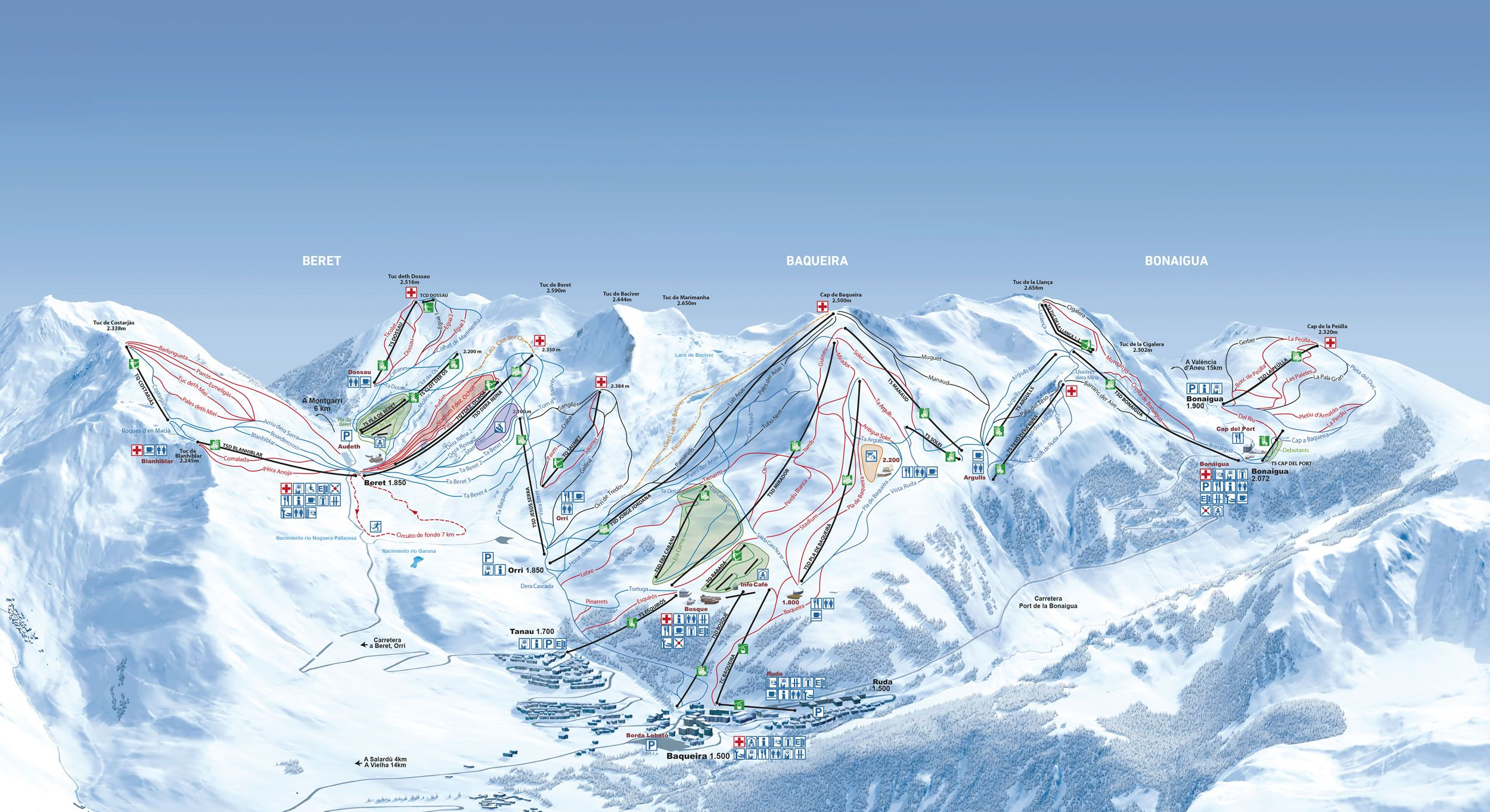 Baqueira Beret Trail Maps Ski Trails Ski Resort