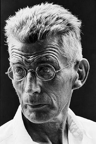 "Steve Schapiro, Samuel Beckett while making ""Film"", New York"