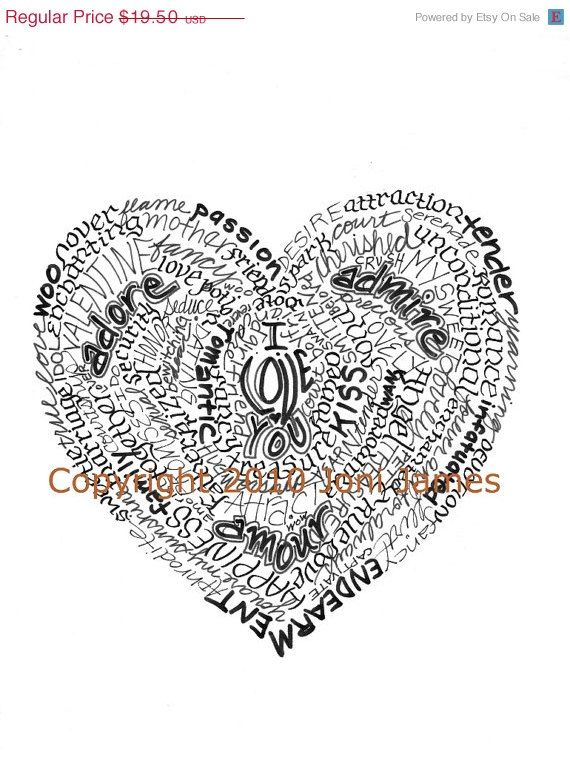 Sale Valentine Heart Word Artigraphy Byigramorama