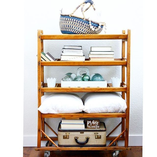 Morning! This Vintage Drying Rack Is So Much Fun To Style