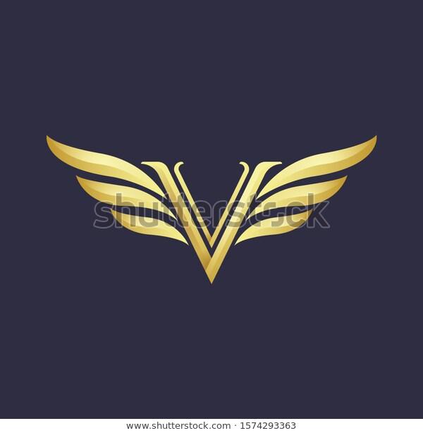 Letter V Logo Design Gold Color Stock Vector Royalty Free 1574293363 V Logo Design Personal Logo Design Cheap Logo Design