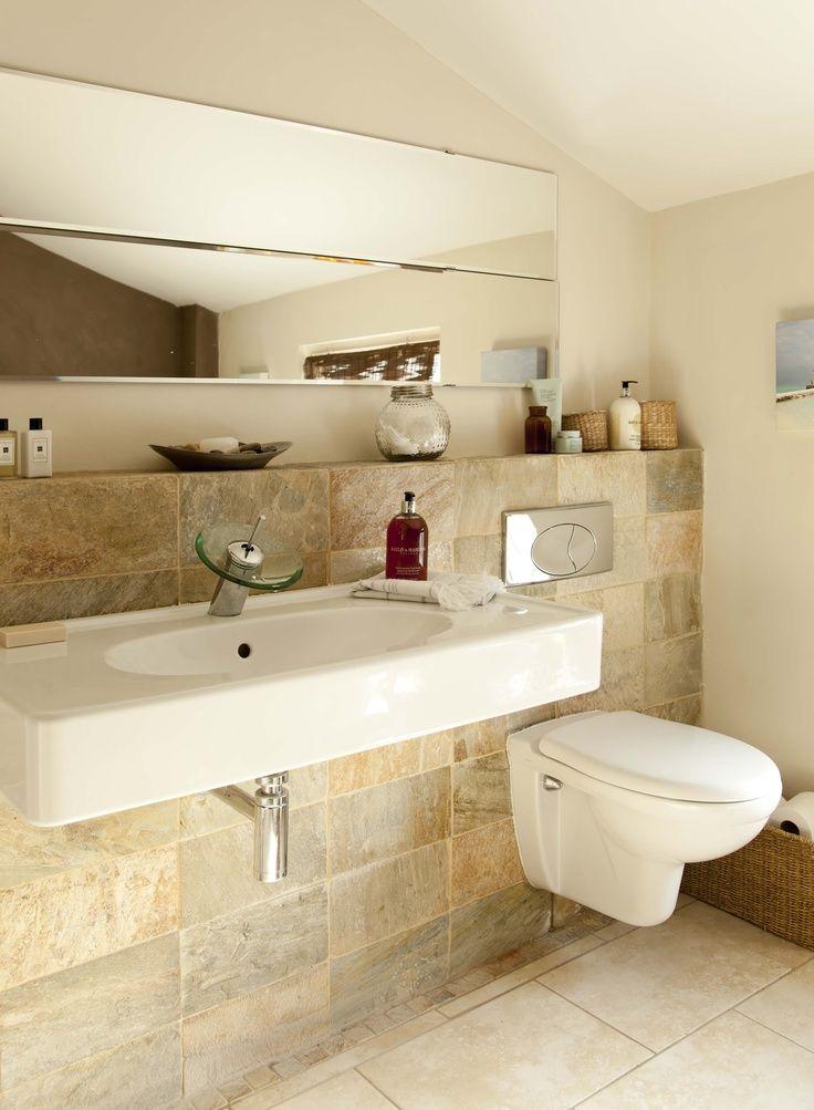 Image Result For Tiled Shelf Behind Toilet And Basin
