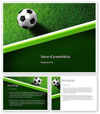 Soccer Ball Near Line Powerpoint Template Httppoweredtemplate