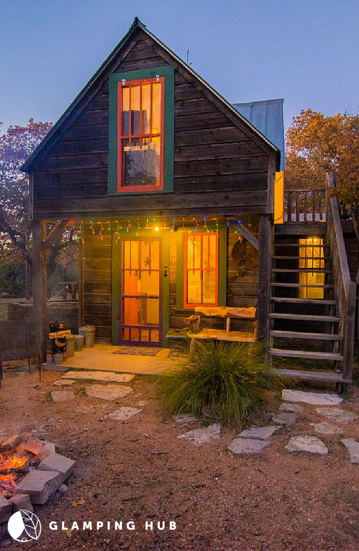 In The Texas Hill Country You Will Find This Rustic Cabin Romantic Cabin Cabin Rentals Luxury Cabin Rental