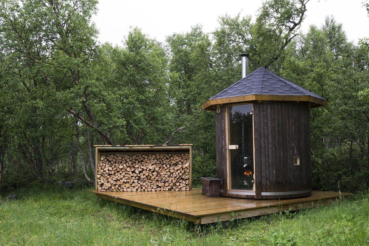 cabane sauna en norv ge inspiration mon espace d tente sauna bain froid hammam spa. Black Bedroom Furniture Sets. Home Design Ideas