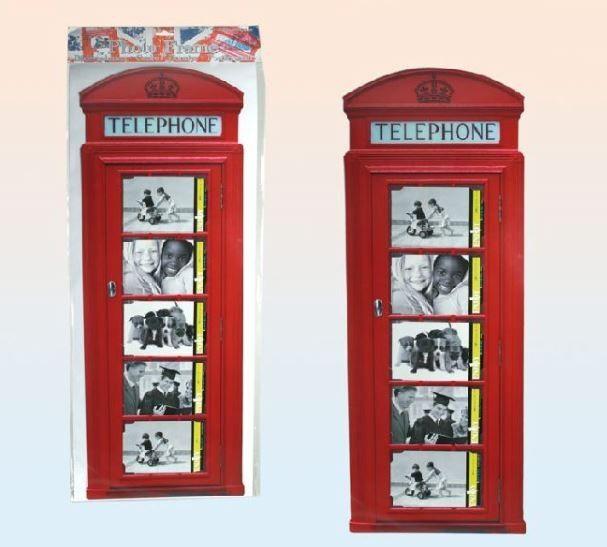 Bilderrahmen Fotorahmen Wandtattoo Für Telefonzelle London 5 Bilder 10 X 15  Cm