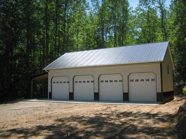 Barn Style Pole Barns Google Search Pole Buildings White Siding Roof Trim