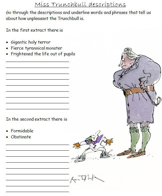 Roald Dahl Sow A Full Scheme Of Work Covering Writing Objectives