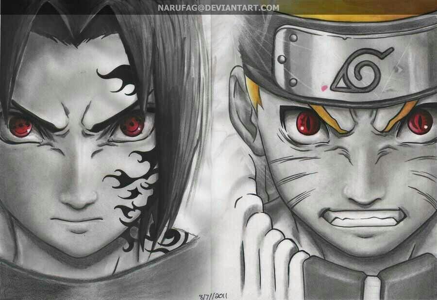 sasuke curse mark naruto nine tails form nine tails eyes naruto