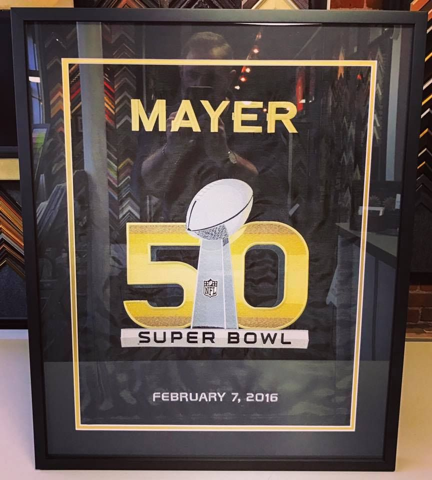 🏈🏆 We were honored to frame this for Denver Broncos team doctor ...