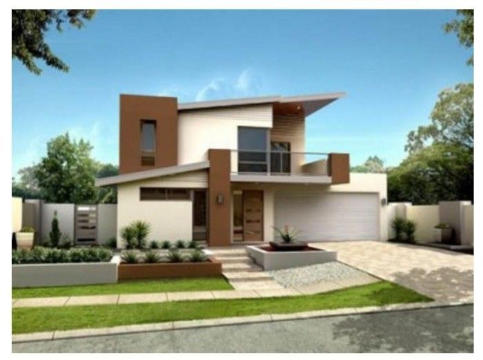 Fachadas de casas bonitas modernas de dos pisos simples for Casas minimalistas bonitas