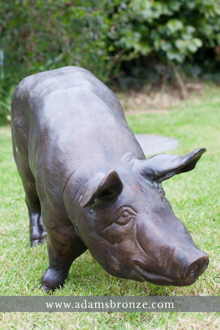 Bronze Pig And Piglet Statues. Click To See These Amazing Lifelike Animal  Garden Statues Cast
