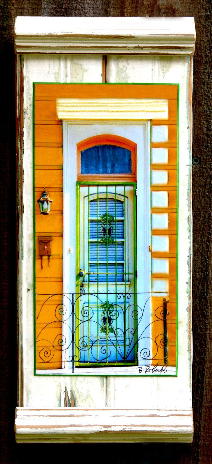 New Orleans....Framed Photograph....... Treme..... Screen Door....architecture....salvage wood. $105.00, via Etsy.