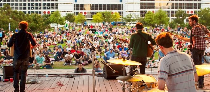 Image result for discovery green concert