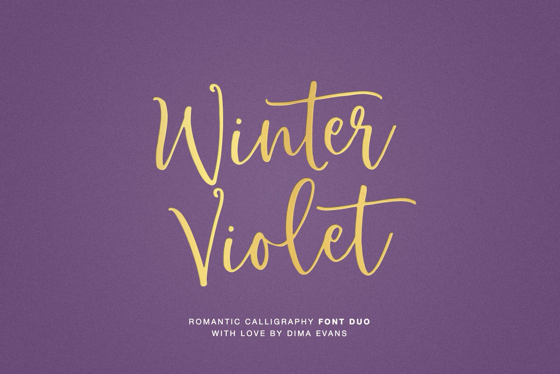 Winter Violet is an elegant and wintery script font that