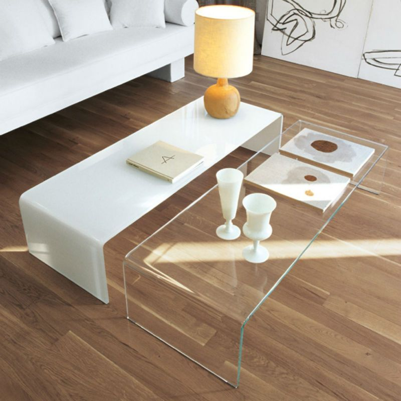 Coffee Table Excellent Modern Hot Bending Gl Long Phenomenal