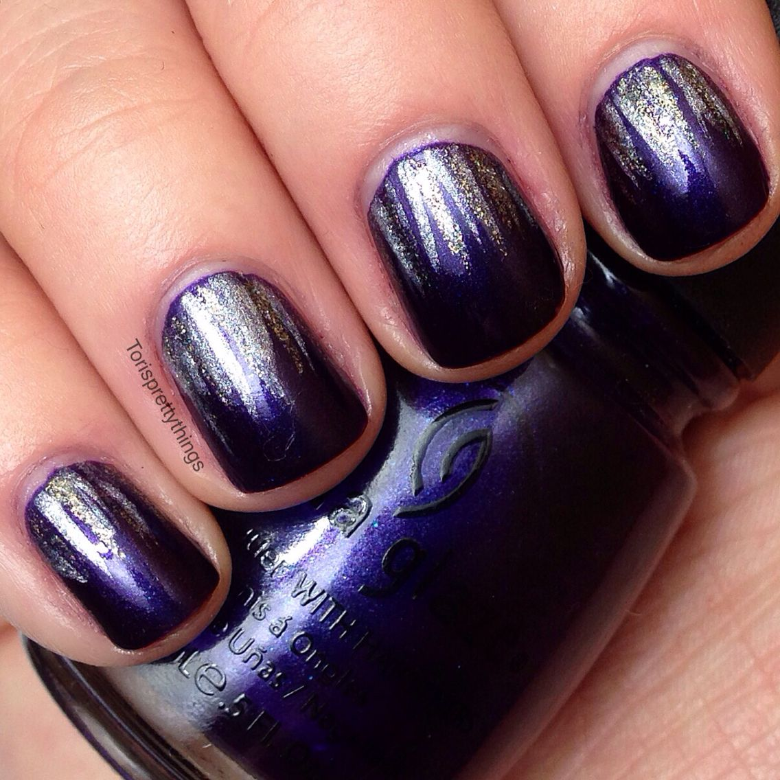 China glaze first class ticket. Icicle nails. Winter nails. Purple nails. 2015