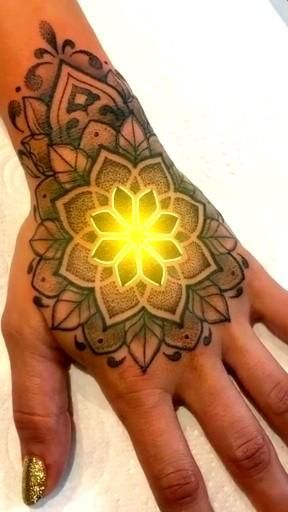 Glowing tattoo design