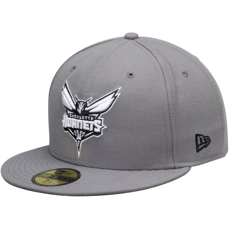 san francisco eb6c7 b445d Charlotte Hornets New Era 59FIFTY Fitted Hat – Gray Black