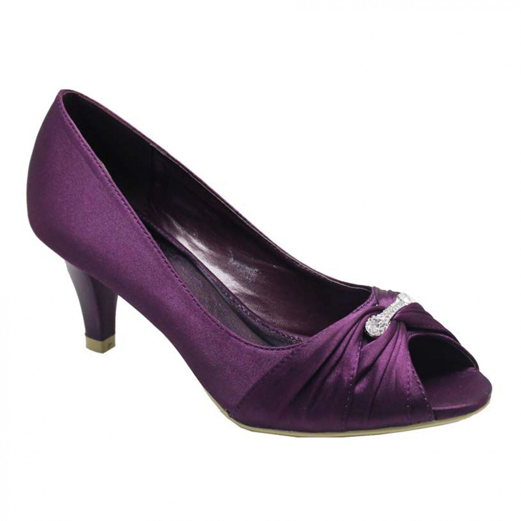Bridal Shoes Alternative: Purple Wedding Shoes Low Heel