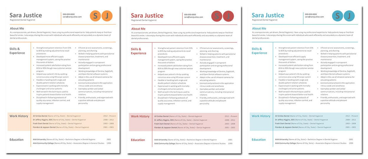 Sara! Dental Hygiene Resume Template only $7 get it now at www - dental hygiene resume template