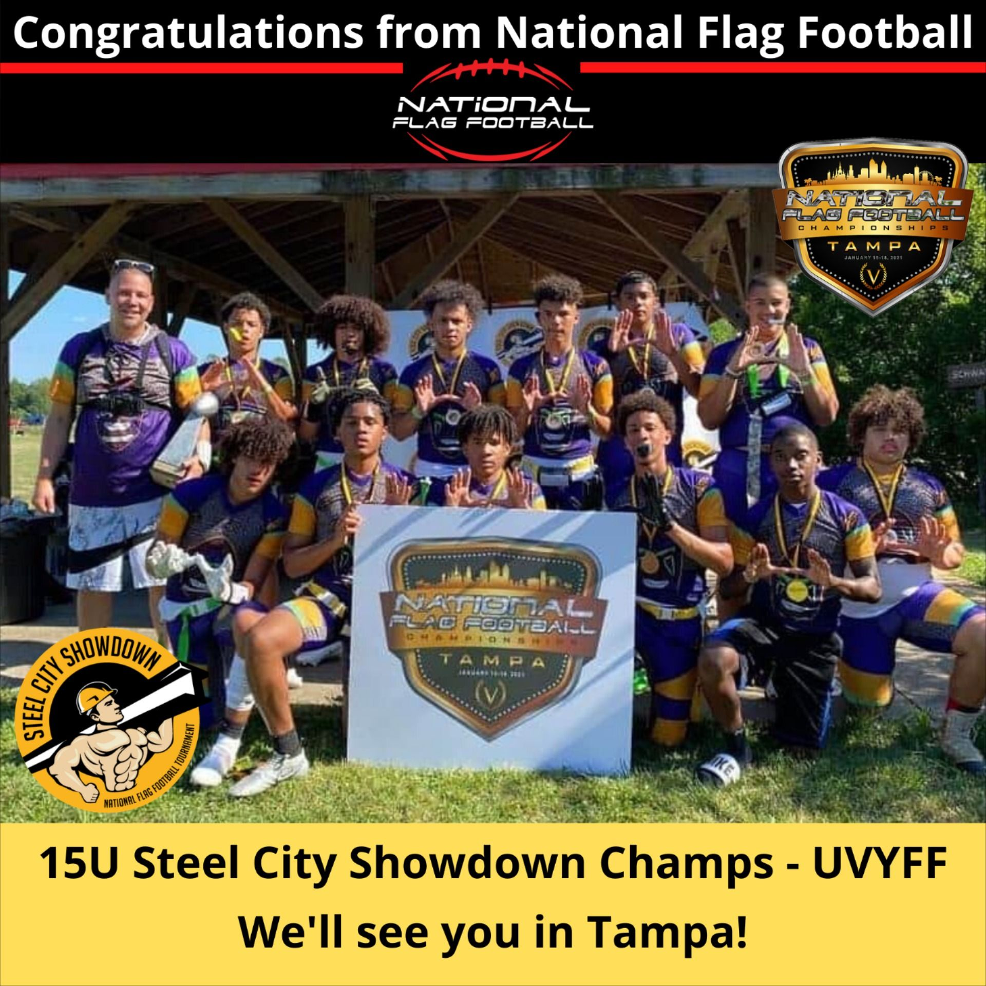 Flag football tournaments steel city showdown in 2020