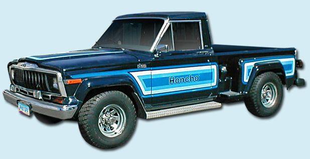 1981 1982 Honcho J10 Stepside Sportside Decal Stripe Kit Jeep