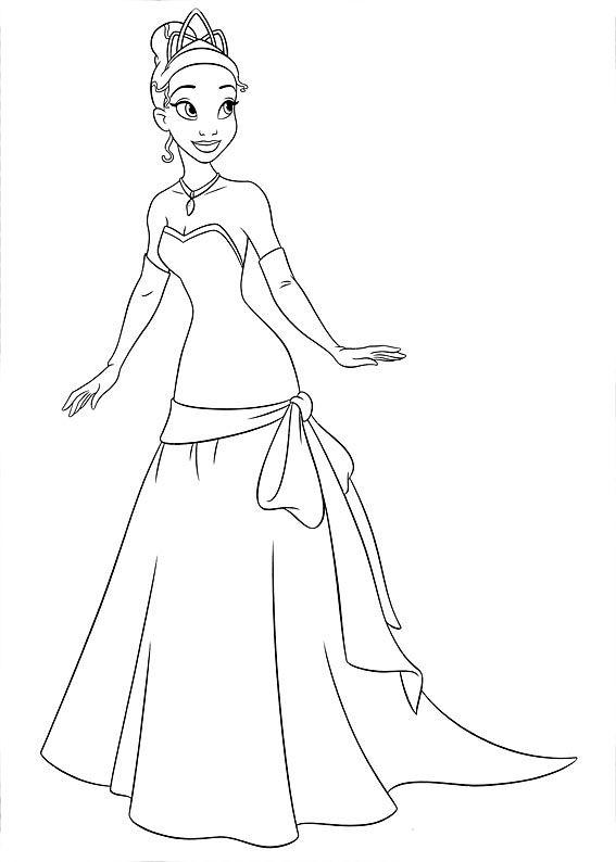 Princesa Tiana Para Colorear Paginas Para Colorir Da Disney