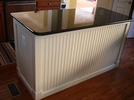 wainscoting on kitchen island bead board on a kitchen island i ve done this in both 6927