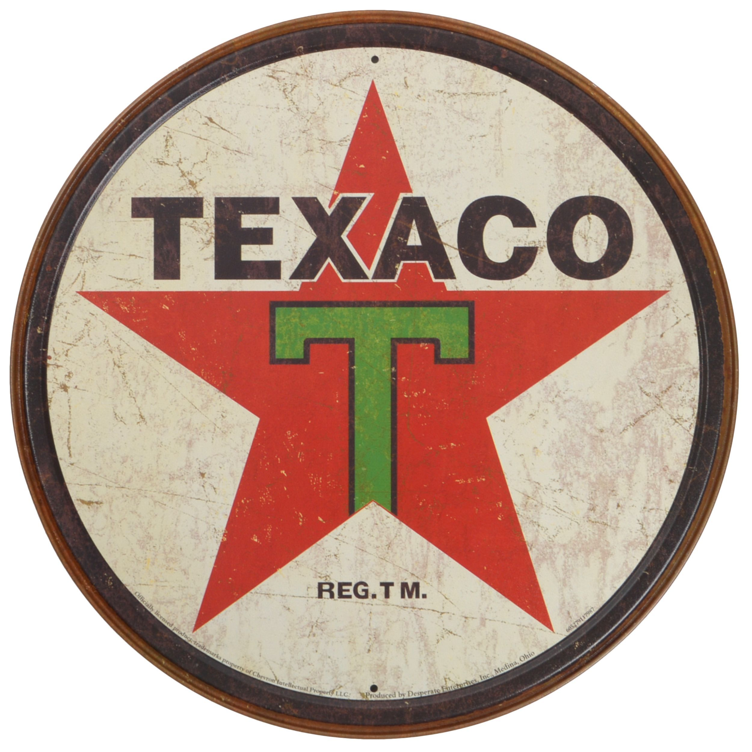 vintage art texaco decorative tin sign tattoos