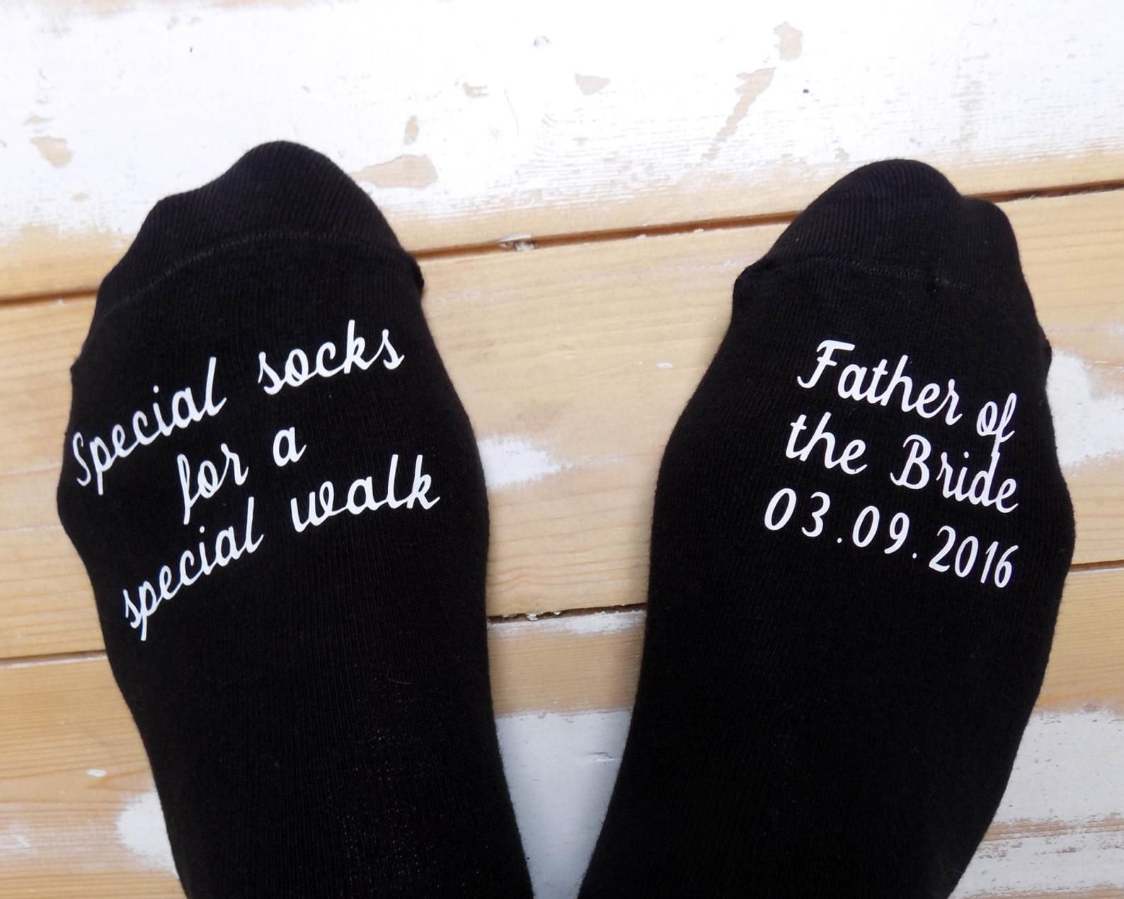 Groom Groomsmen WEDDING DAY GIFT Keepsake Present PERSONALISED WEDDING SOCKS