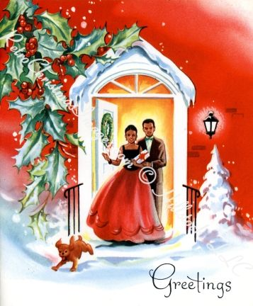 50\u0027s Couple and dog Holidays Pinterest Christmas, Vintage