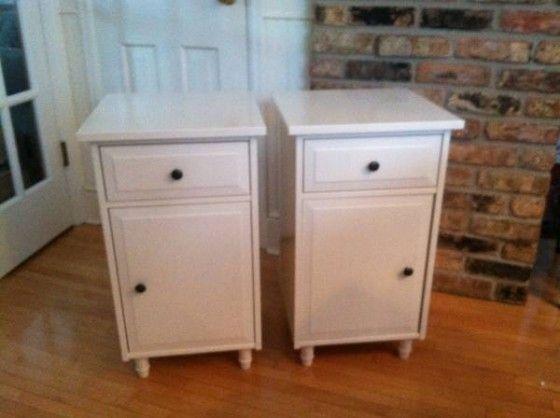 Pair Of Ikea Hemnes White Nightstands Side Tables