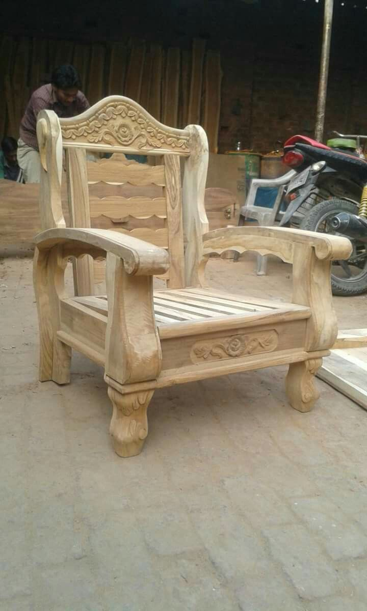 Sillon Rustico In 2020 Carved Sofa Wooden Bed Design Wooden