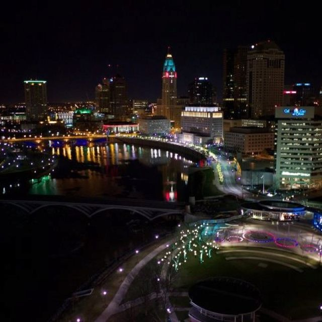 Columbus Ohio So Pretty At Night Too A Big Part Of Our Heart