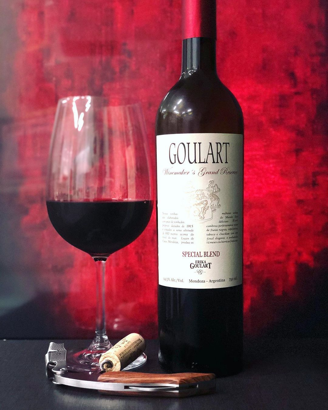 Photo By Mi Taraborelli Brasil Goulart Winemaker S Grand Reserv Special Blend 2013 14 5 Alc Vol 60 Malbec 40 Cabern Alcoholic Drinks Red Wine Wine