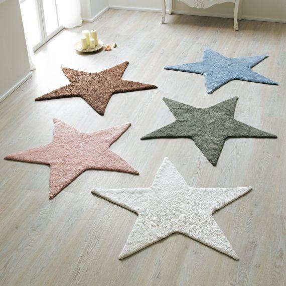 Badteppich Stern Baumwolle Durchmesser Ca 100 Cm Badematten Bad Badteppich Teppich Sterne